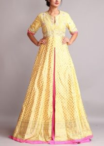 Anarkali Mehndi Dress Design