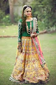 Mehndi green colored chunri dresses