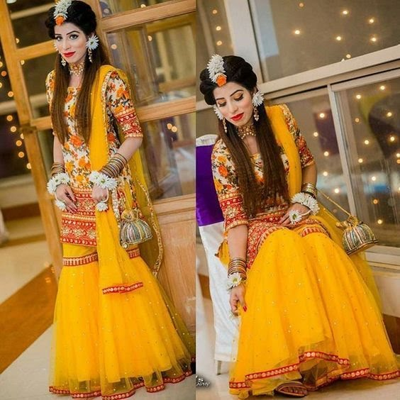 new design of mehndi dress