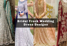 Bridal Models Wearing Bridal Frock Dresses 2019