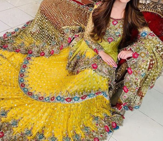 Classical indian mehndi dress