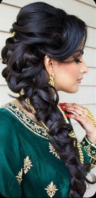 Trendy hairstyle with lose curls