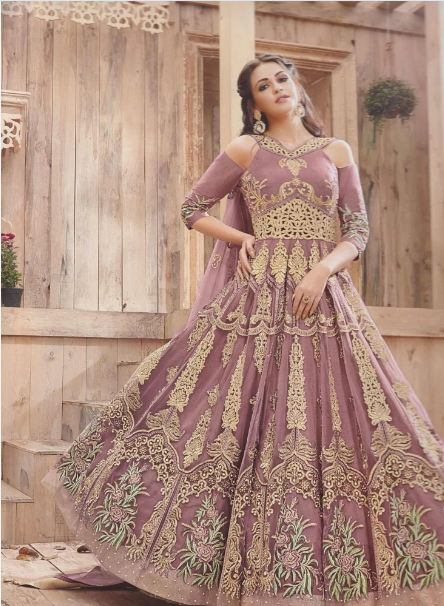 Pakistani engagement maxi dress design