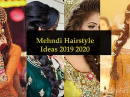 Best Mehndi Hairstyle for Indian and Pakistani Brides