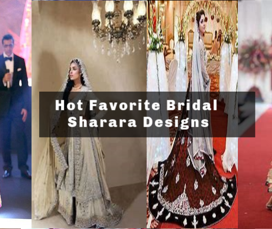 10 Top Favorite Bridal Sharara Designs