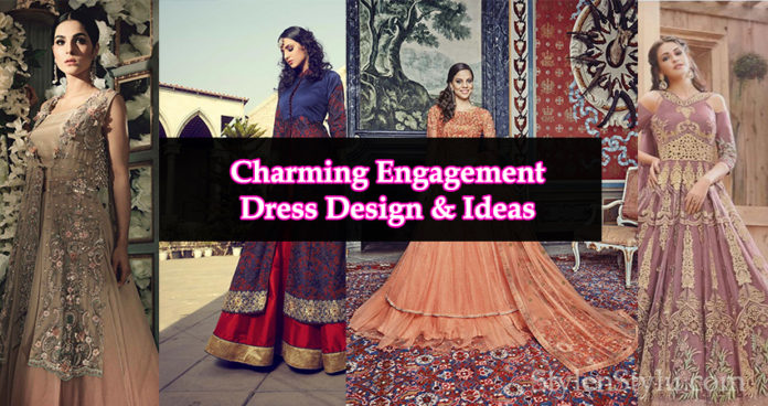 Charming Engagement Dress Designs for Bride
