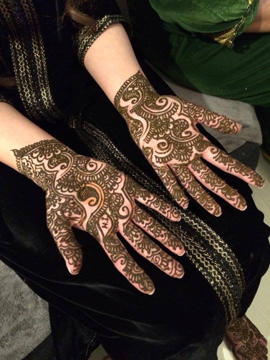 Arabic Mehndi Design For Inner Hands