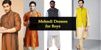Mehndi Dress for Boys