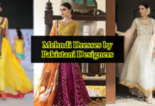 Mehndi Dresses by Pakistani Designers