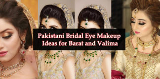Pakistani Bridal Eye Makeup Ideas for Barat and Valima