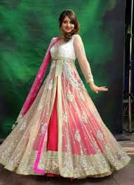 anarkali gown for engagement