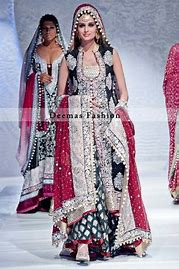 bridal sharara and open shirt
