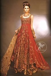 three layer sharara design for bridal wear