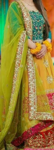 Mehndi Color Chunri Dupatta for Bridal Dress