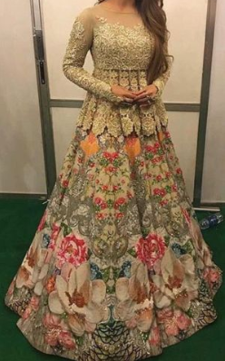 Formal Waist Length Kurti Dress Design Idea for Bridal Sisters on Pakistani Wedding