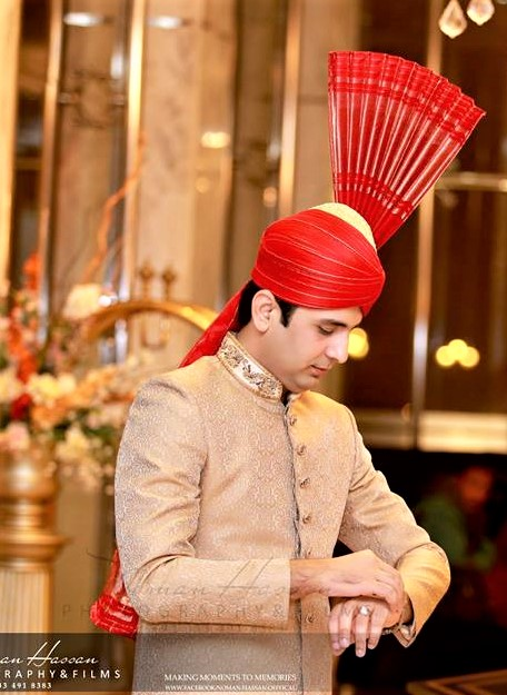 Skin color Mehndi dress for groom