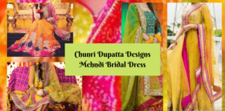 Chunri Dupatta Designs Mehndi Bridal Dress