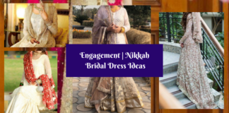 New Stylish Pakistani Bridal Engagement & Nikkah Dress Designs