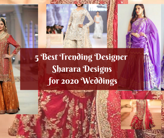 5 Best Trending Designer Sharara Designs for 2020 Weddings
