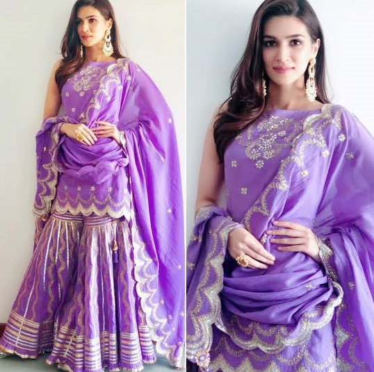 Purple Bridal Sharara Design for Barat