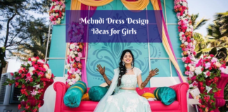Latest Pakistani Mehndi Dresses Design Ideas for Girls