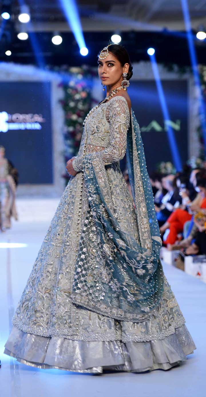 Winter Blue dress for Pakistani & Indian Bride
