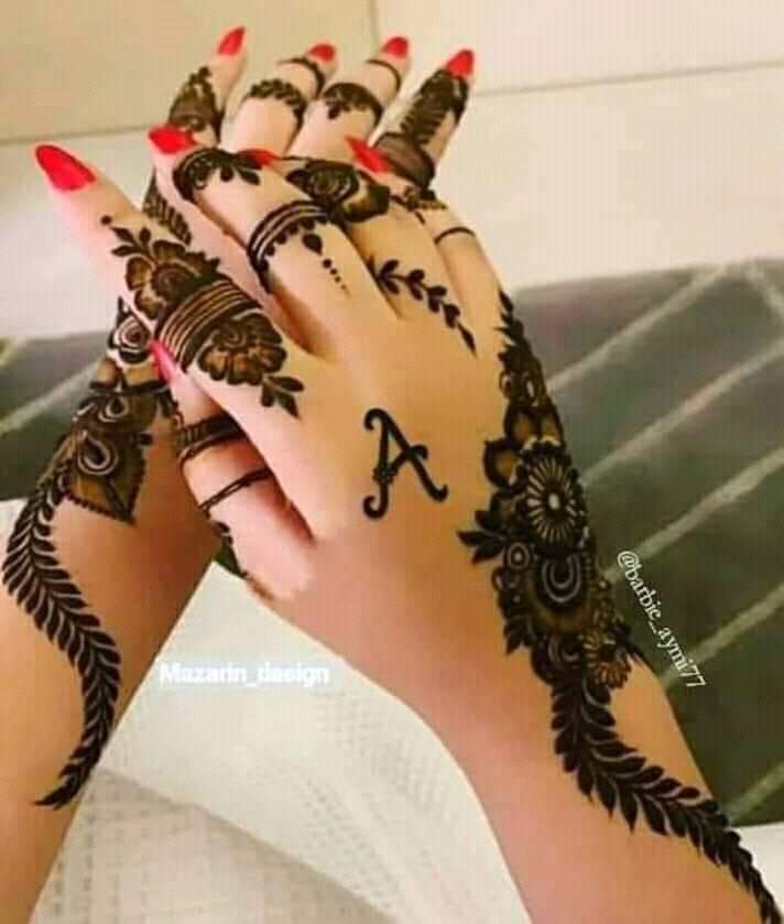 Hand Mehndi Design with Word